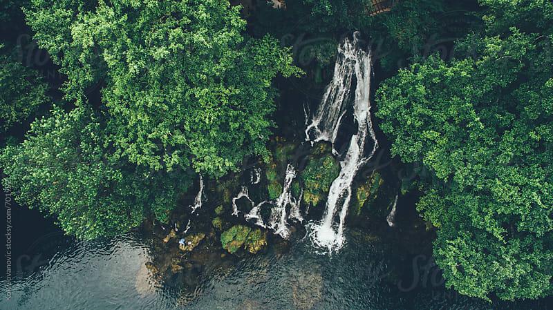 River Vrelo waterfall & Drina river by Koki Jovanovic for Stocksy United