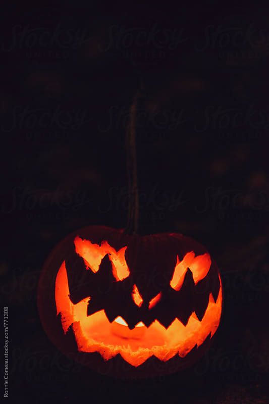 Crazy Old Jack-O-Lantern by Ronnie Comeau for Stocksy United