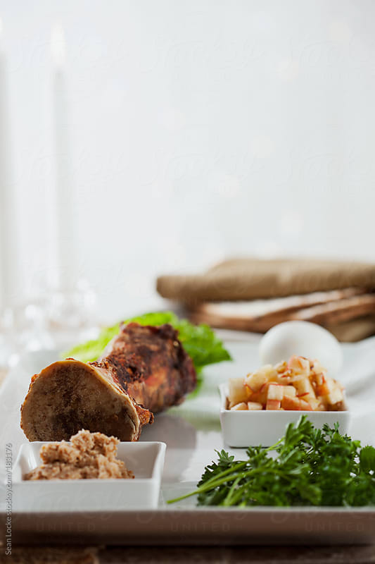 Passover: Traditional Jewish Seder Plate For Passover by Sean Locke for Stocksy United