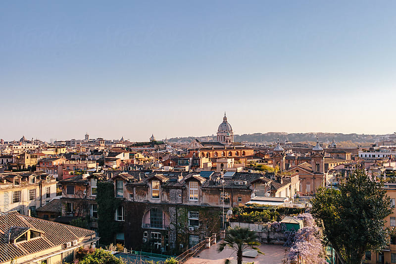 View of Rome by Zocky for Stocksy United
