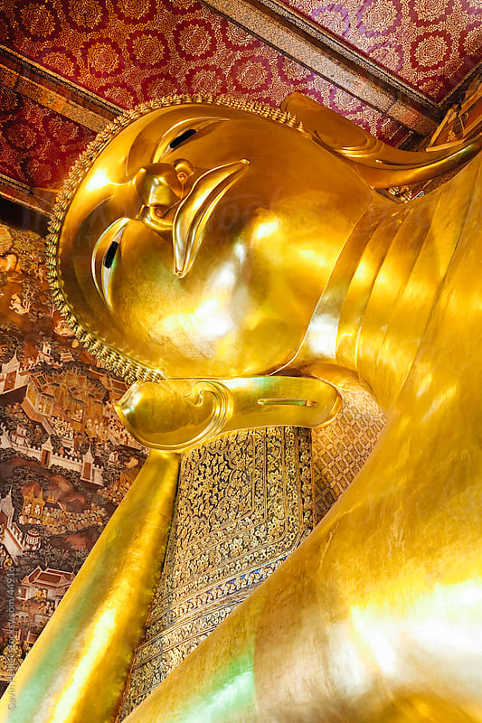 Reclining Golden Buddha in Wat Pho temple (Wat Phra Chetuphon), Bangkok, Thailand, Southeast Asia, Asia by Gavin Hellier for Stocksy United