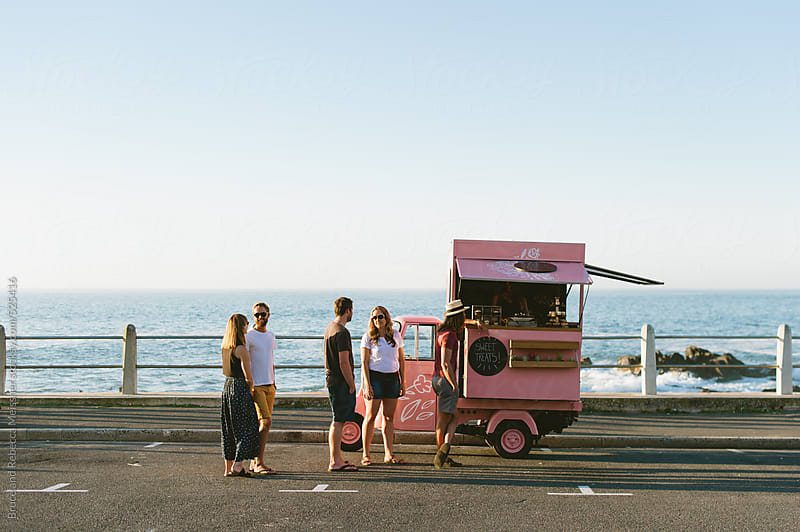 Food Truck at the Seaside by Bruce and Rebecca Meissner for Stocksy United