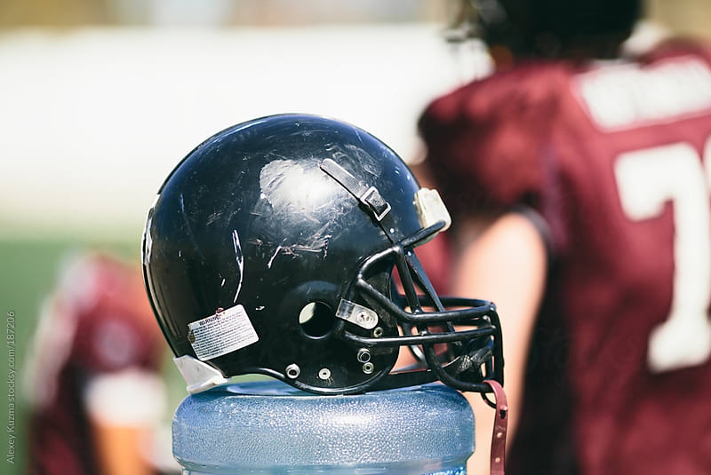 black football helmet by Alexey Kuzma for Stocksy United