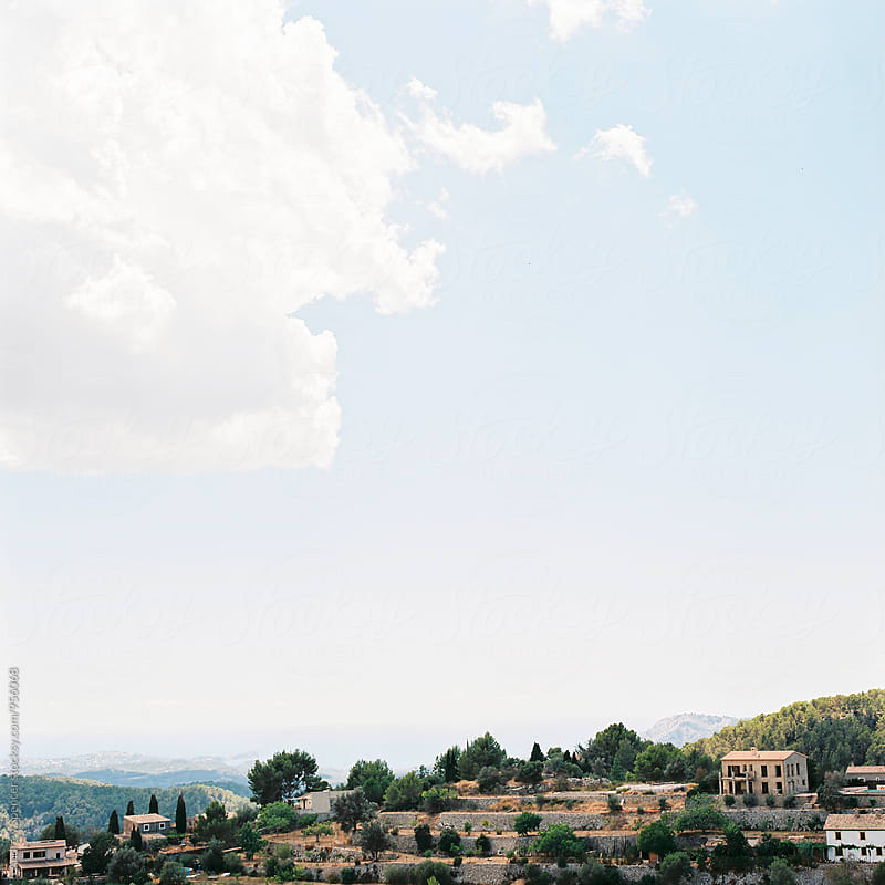 View of a Majorcan Villa by Andrew Spencer for Stocksy United