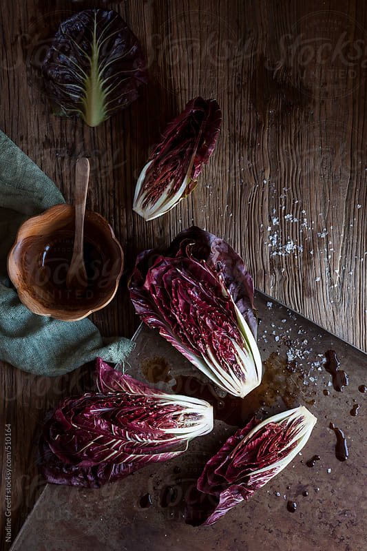 Radicchio with balsamic vinegar by Nadine Greeff for Stocksy United