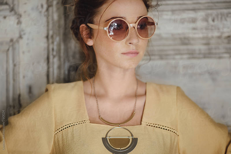 Red-Haired Woman With Sunglasses by Lumina for Stocksy United