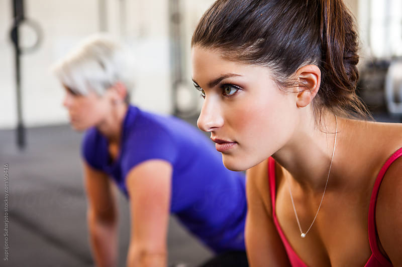 Women working out in the gym by Suprijono Suharjoto for Stocksy United