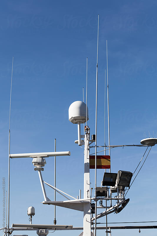 Mast electronic equipment on a fishing boat by Marilar Irastorza for Stocksy United