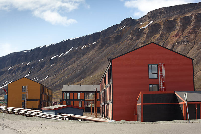 Longyearbyen architecture by Jelena Jojic Tomic for Stocksy United