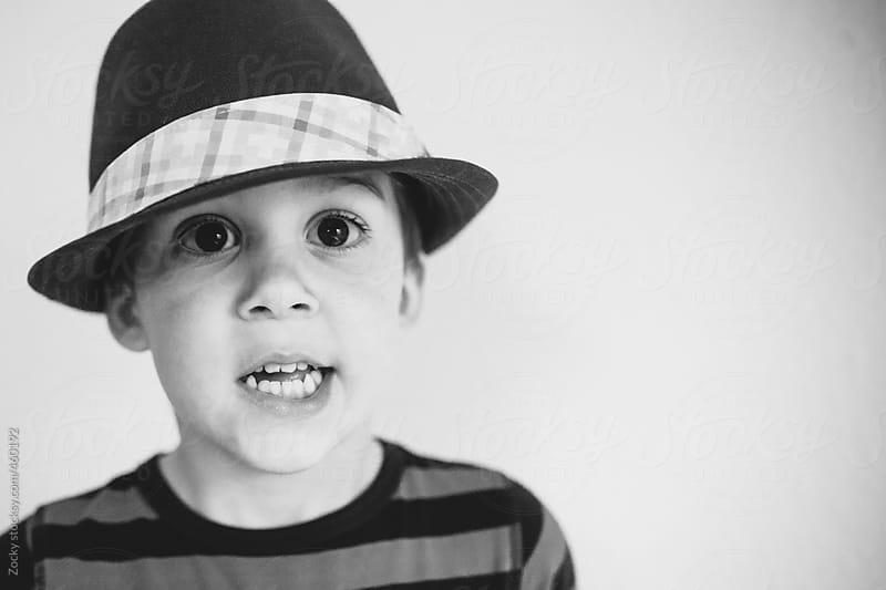 Little boy close up portrait by Zocky for Stocksy United