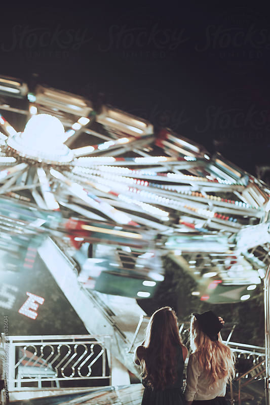 Young beautiful girls at the carnival by Jovana Rikalo for Stocksy United