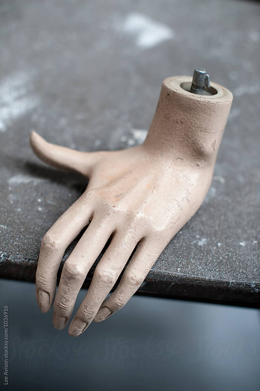 dismembered mannekin or mannequin hand  by Lee Avison for Stocksy United