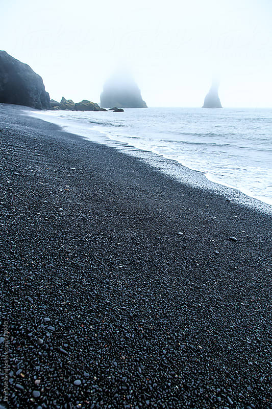 Black sand beach at Vik. Iceland by John White for Stocksy United