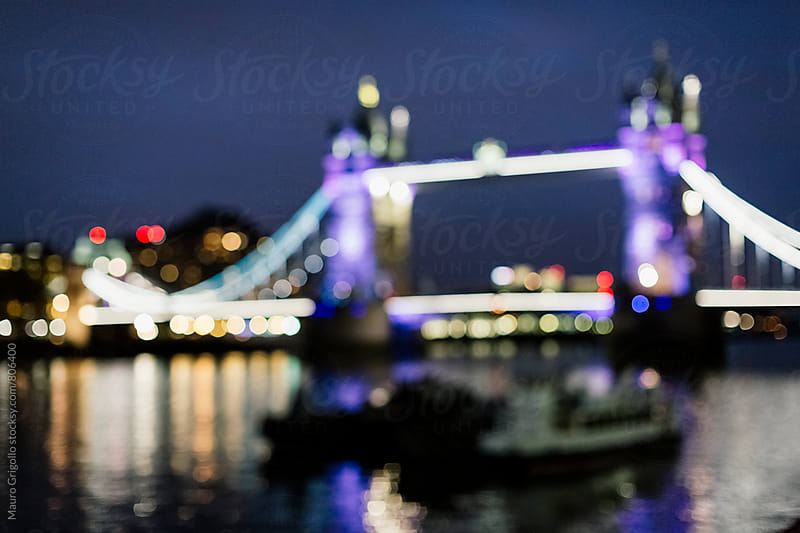 Blurred view of Tower Bridge in London by Mauro Grigollo for Stocksy United