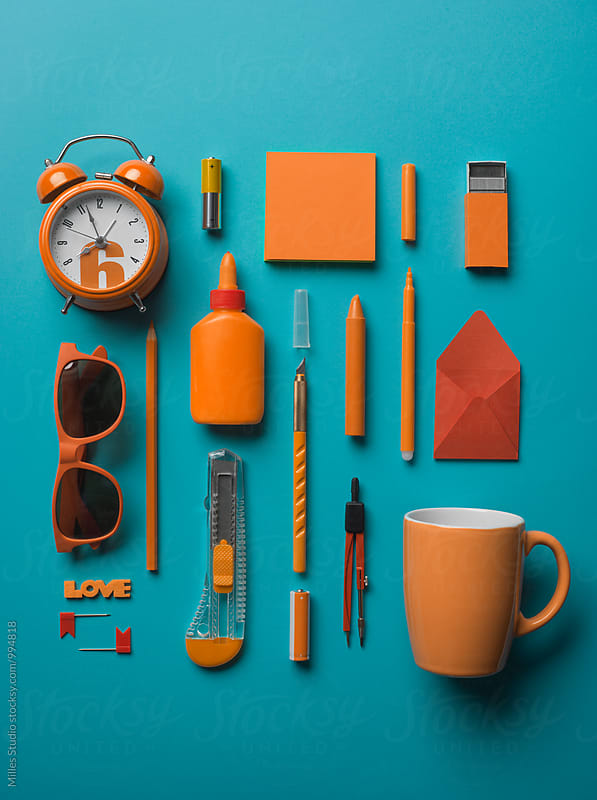 Office supplies set by Milles Studio for Stocksy United
