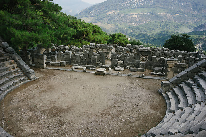 Amphitheatre at Arykanda, Turkey by Kirstin Mckee for Stocksy United
