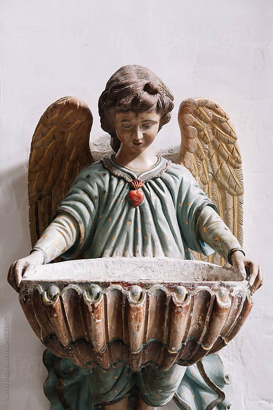 Old Worn Angel Statue by Alberto Bogo for Stocksy United