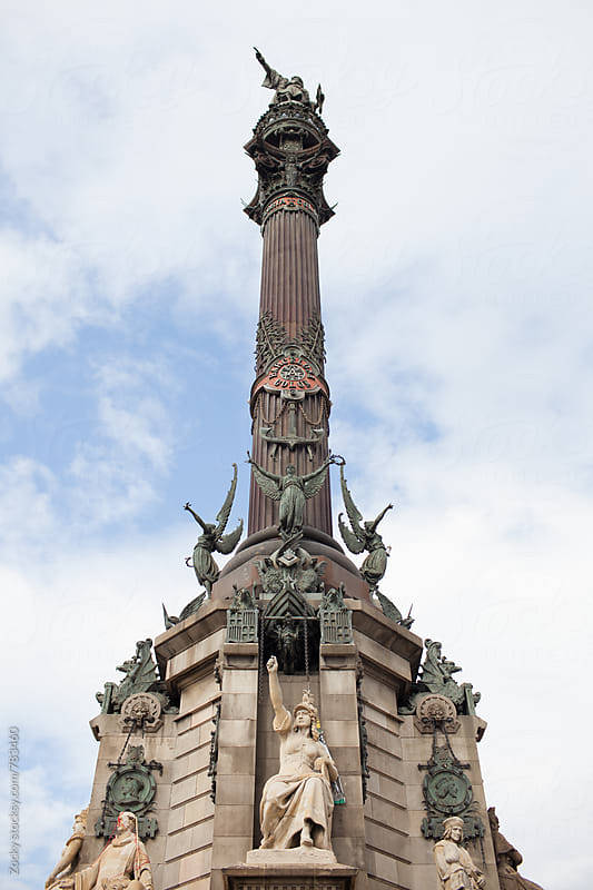 Columbus Monument in Barcelona by Zocky for Stocksy United
