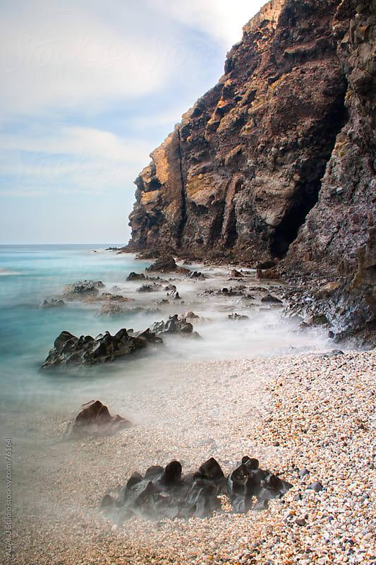 Cliffs on the beach Los muertos, Almería by ACALU Studio for Stocksy United