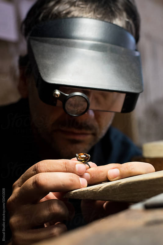 Jeweler working on his workshop by Bisual Studio for Stocksy United