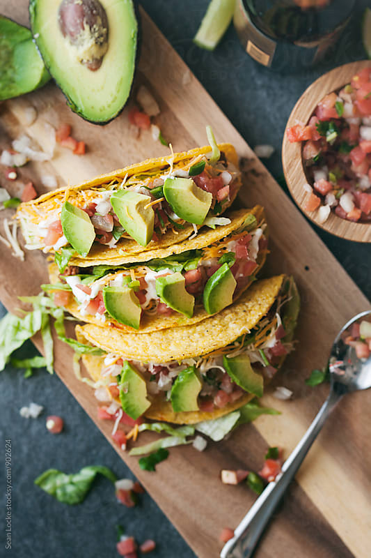 Tacos: Mexican Lunch With Beer On The Side by Sean Locke for Stocksy United