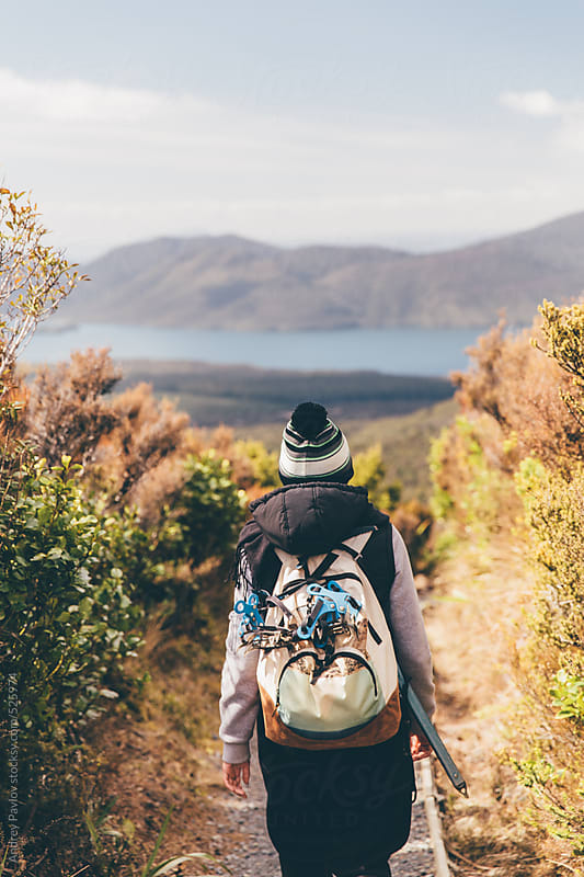 Tongariro Alpine Crossing hiking by Andrey Pavlov for Stocksy United