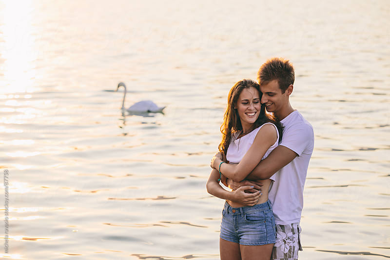 Young couple in love by michela ravasio for Stocksy United