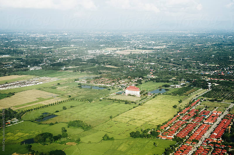 Aerial view of Chiang Mai by Alita Ong for Stocksy United