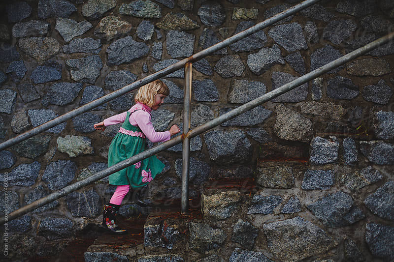 Climbing the stairs! by Cherish Bryck for Stocksy United