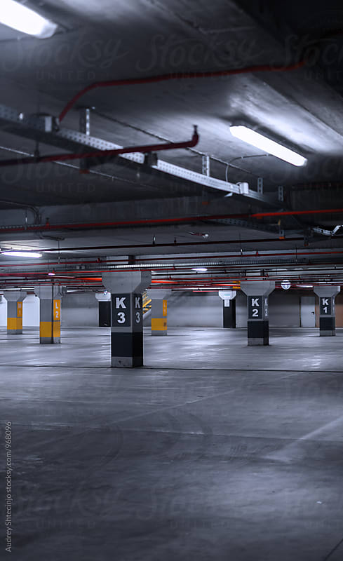 Underground garage-parking.  by Marko Milanovic for Stocksy United