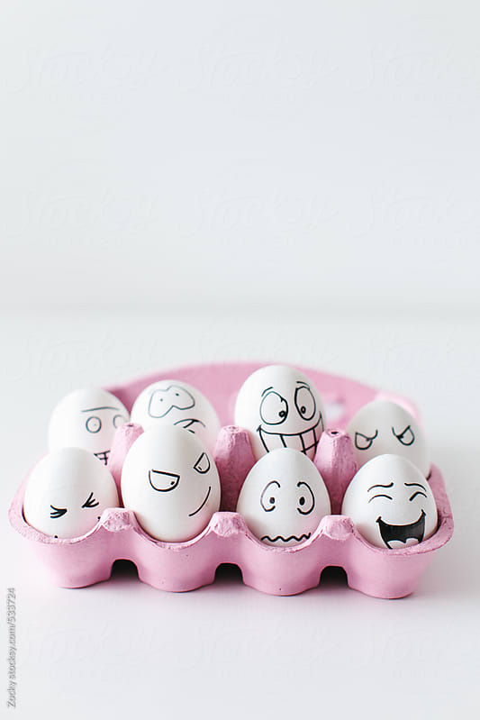 Egg Heads in the Carton by Zocky for Stocksy United