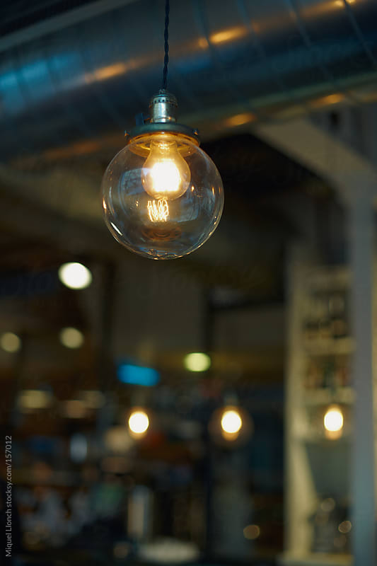 Bulb lamp by Miquel Llonch for Stocksy United