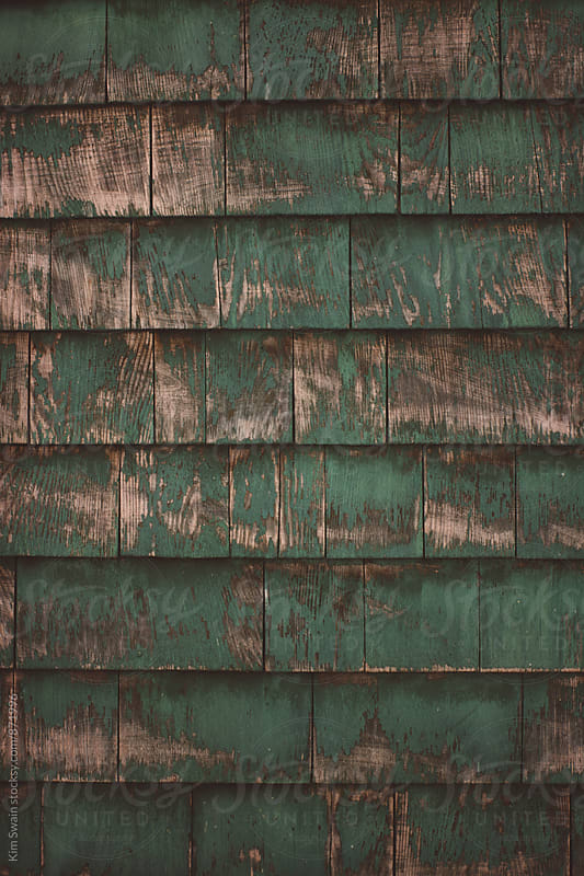 Green Wood Shingles by Kim Swain for Stocksy United