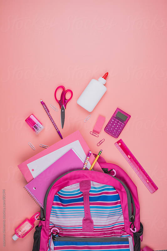 The Contents of a Schoo Backpack Spilled by suzanne clements for Stocksy United