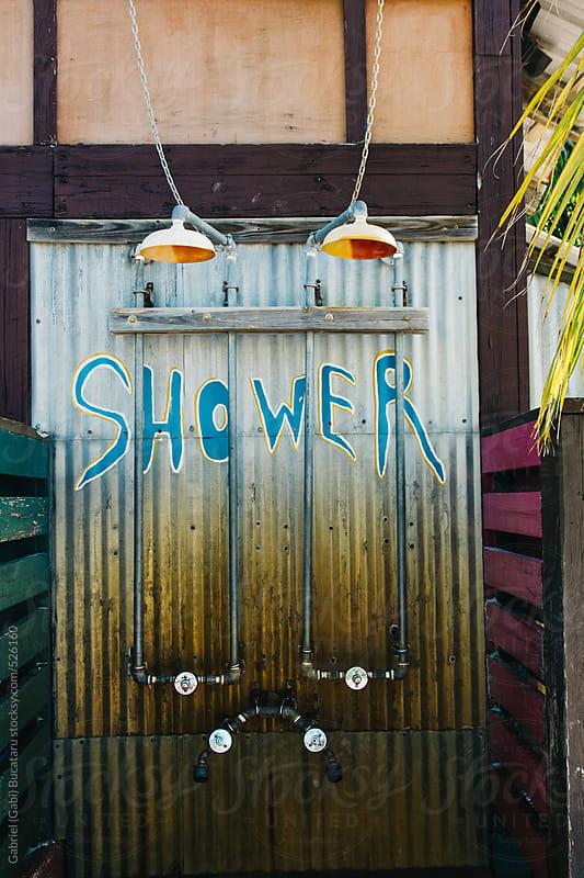 Outdoor beach shower by Gabriel (Gabi) Bucataru for Stocksy United