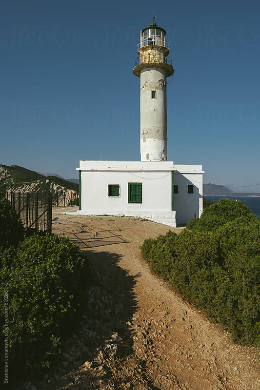 The Old Lighthouse On the Island Of Lefkada by Branislav Jovanović for Stocksy United