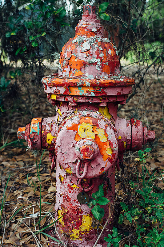 Chipped paint on a fire hydrant by Gabriel (Gabi) Bucataru for Stocksy United