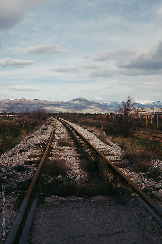Empty Railway in Wild and Beautiful Montenegrin Landscape by Nemanja Glumac for Stocksy United