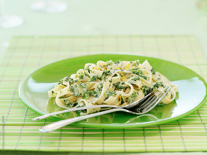Spring Fettuccine by Jill Chen for Stocksy United