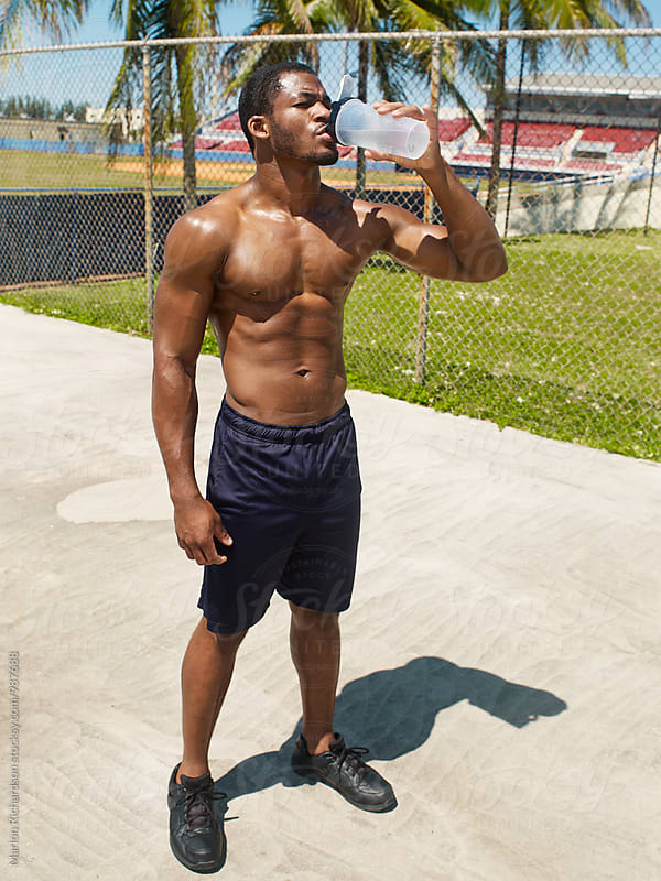 Fit African American Male by Marlon Richardson for Stocksy United