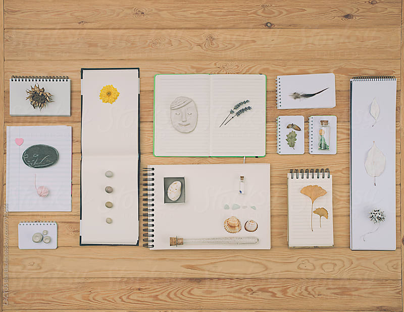Notebooks composition  by CACTUS Blai Baules for Stocksy United