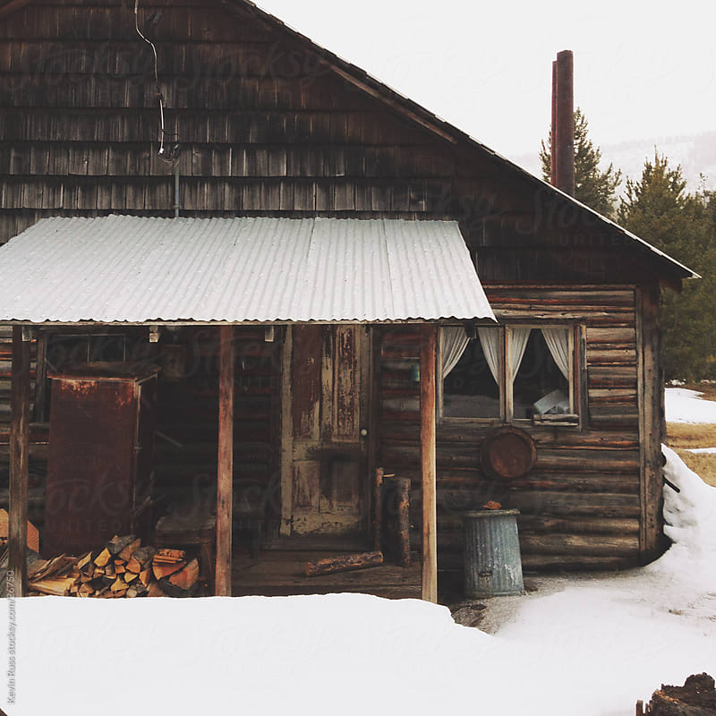 Snowy Cabin Close Up by Kevin Russ for Stocksy United
