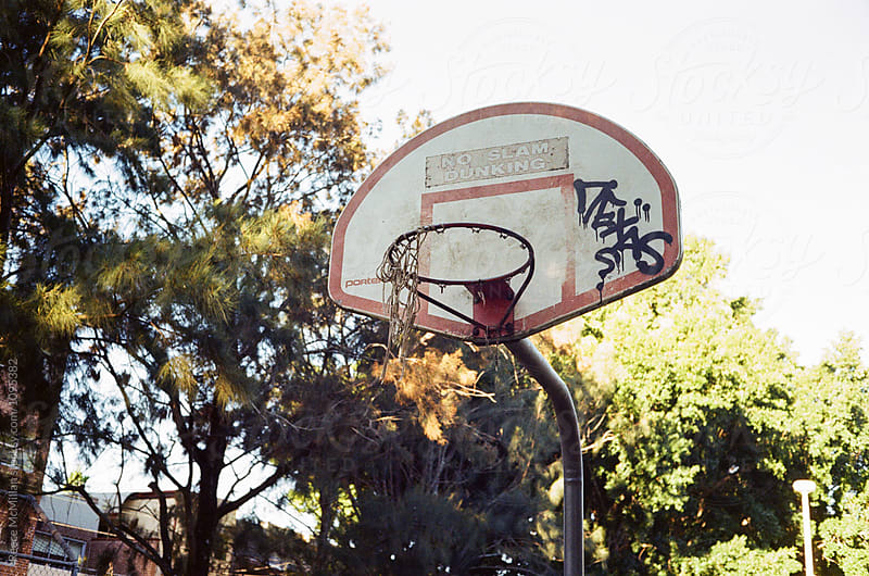 Park Basketball Ring by Reece McMillan for Stocksy United