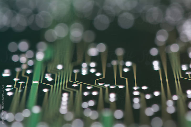 Printed circuit board macro by Pixel Stories for Stocksy United