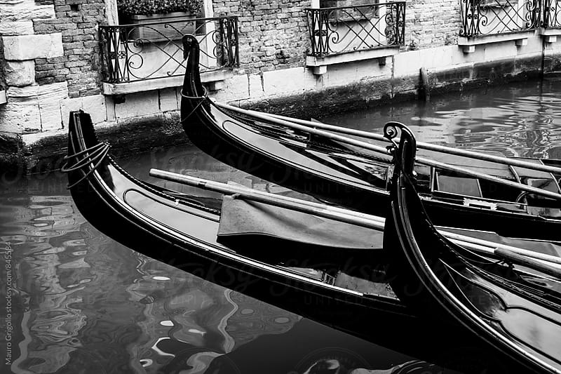 Gondola in a canal in Venice, Italy. by Mauro Grigollo for Stocksy United