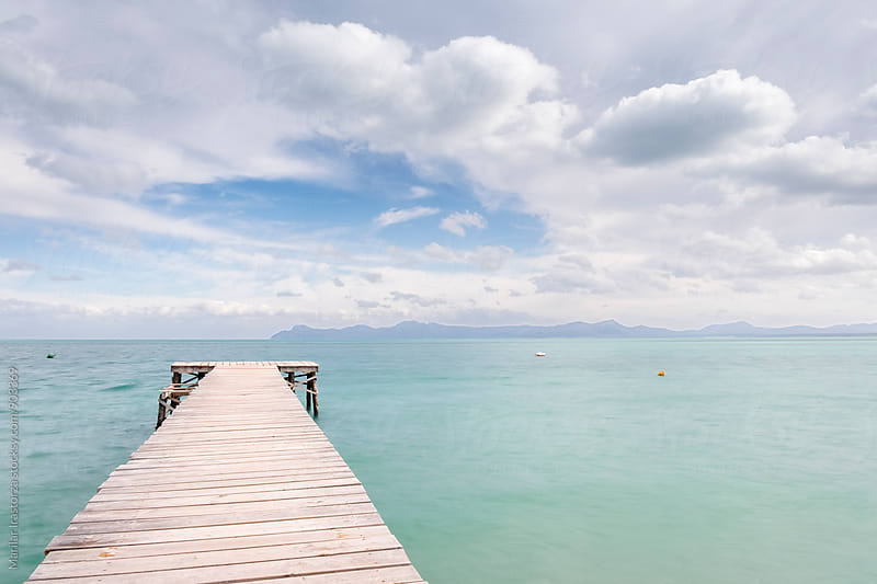 Boardwalk Through Sea by Marilar Irastorza for Stocksy United