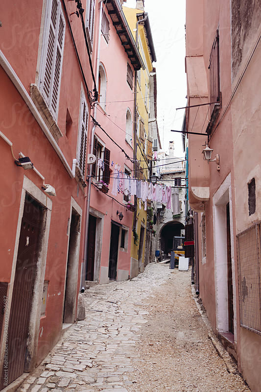 Alley in Rovinj by Robert Kohlhuber for Stocksy United