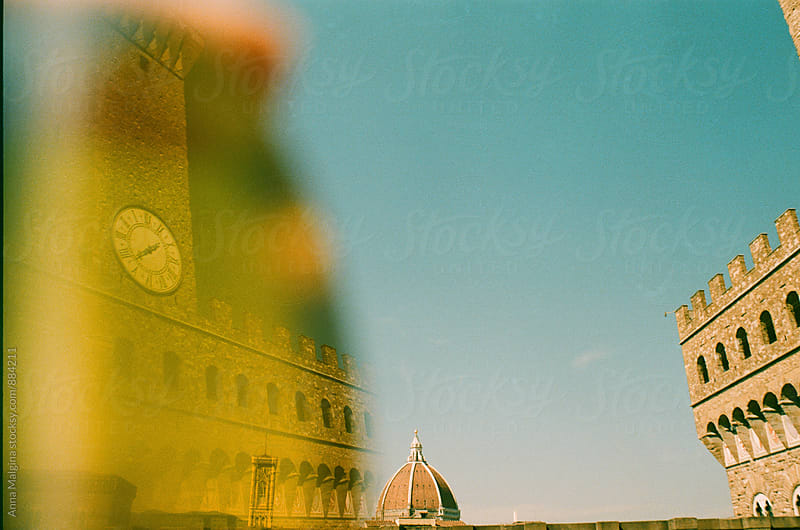 A film photo of Florence clock tower  by Anna Malgina for Stocksy United