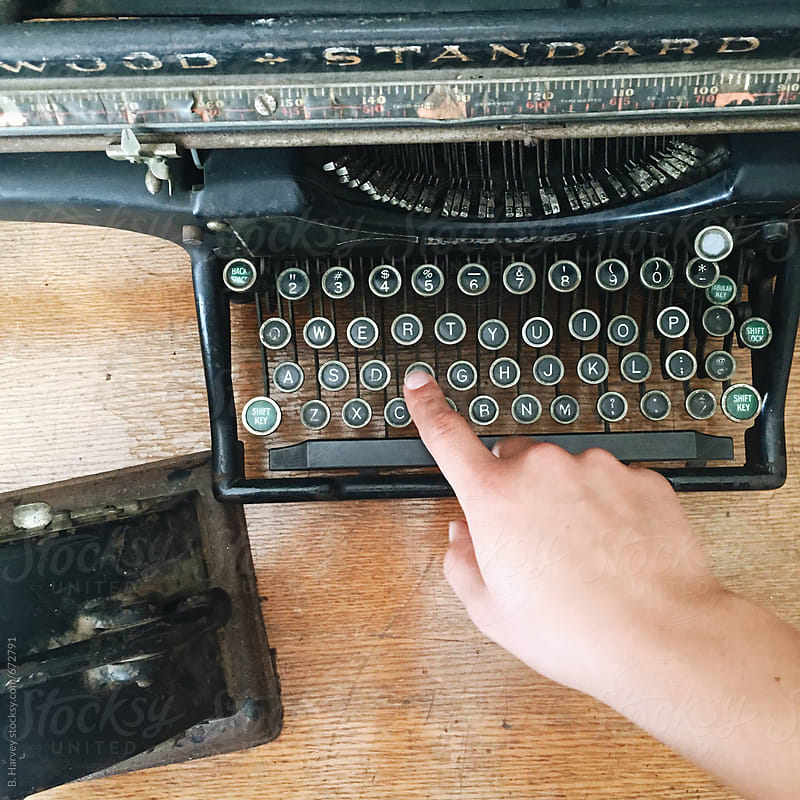 Typing on a Typewriter by B. Harvey for Stocksy United