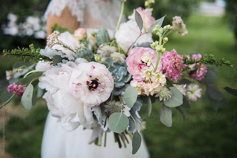 Bridal bouquet by Adrian Cotiga for Stocksy United